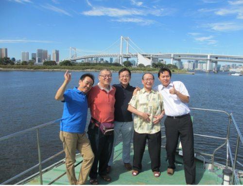 親睦会行事で屋形船に乗船しました。
