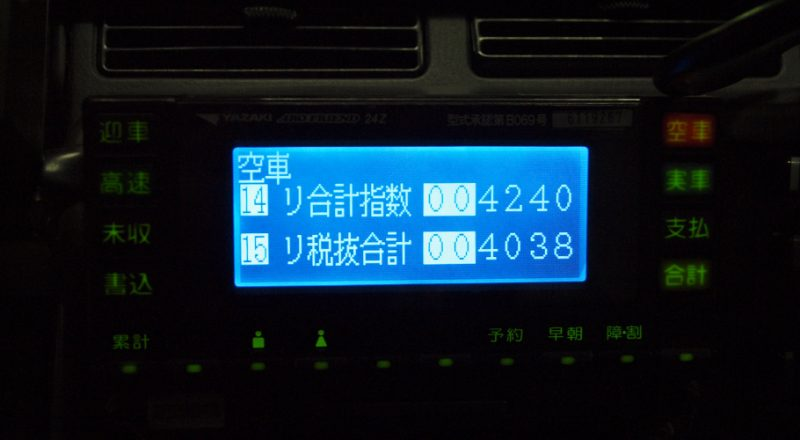 タクシーメーター
